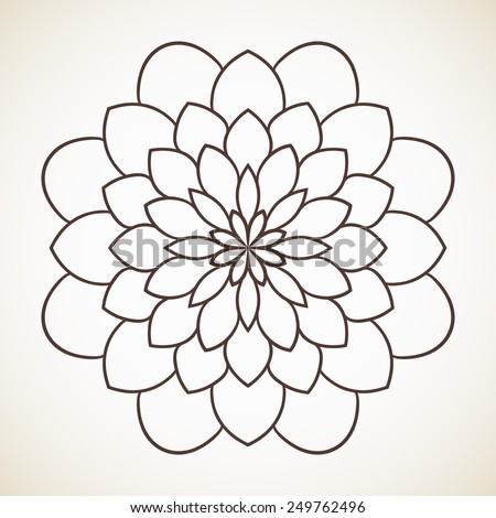 Round Flower Pattern Circular Ornament Design Stock Vector ...