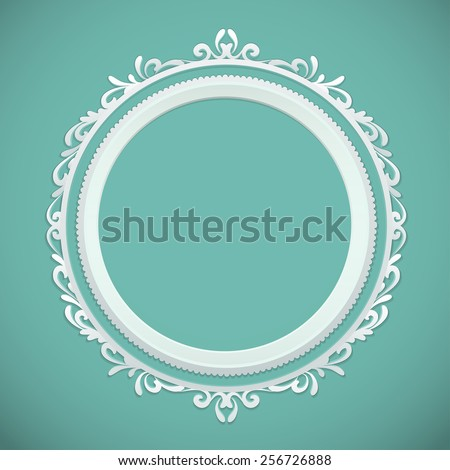 round frame, design element - stock vector