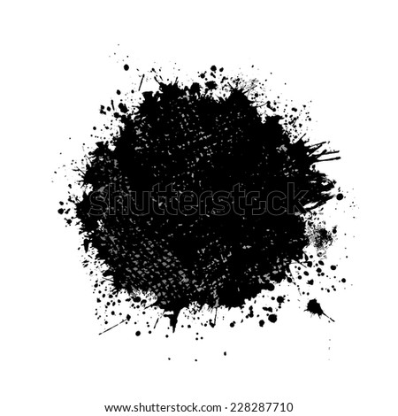 round frame of abstract ink spots. Vector - stock vector