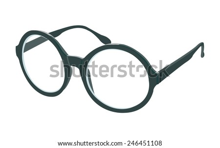 round glasses - stock vector