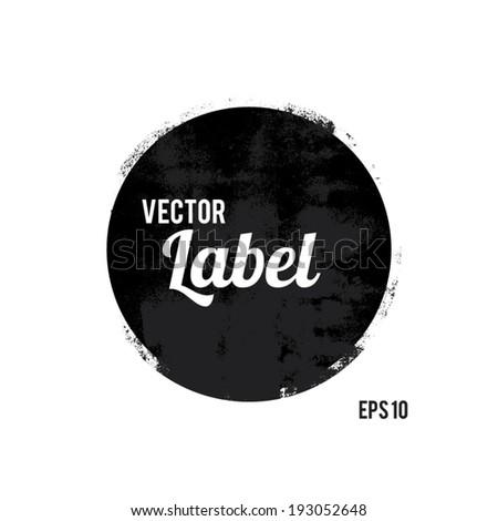 Round grunge design element - stock vector
