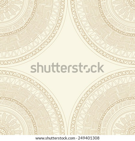 Round lace mandala seamless pattern.Texture for web, print, wallpaper, decals, fall winter fashion, textile design, invitation or website background, holiday home decor - stock vector