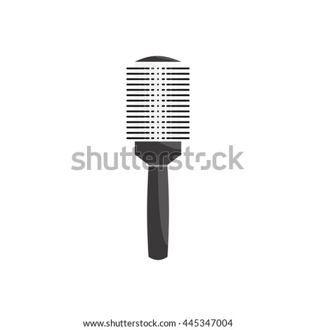 Round metal comb icon in cartoon style on a white background
