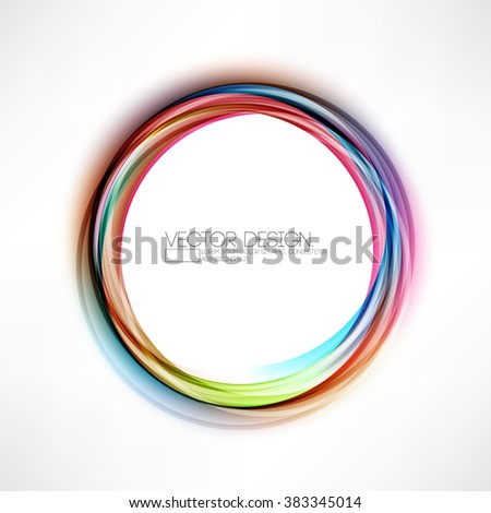 round multicolored frame abstract background - stock vector
