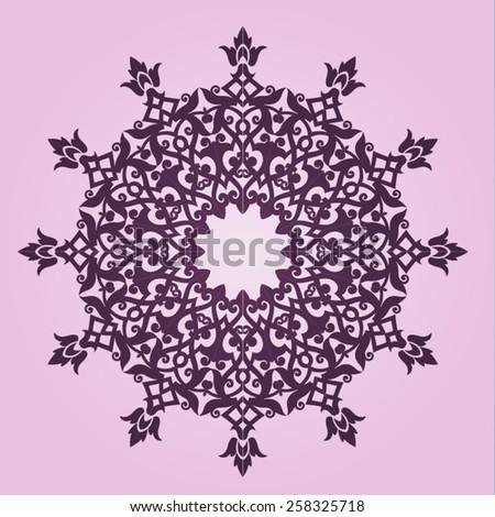 Round Ornament Pattern. Vintage decorative elements arabesque design element. - stock vector