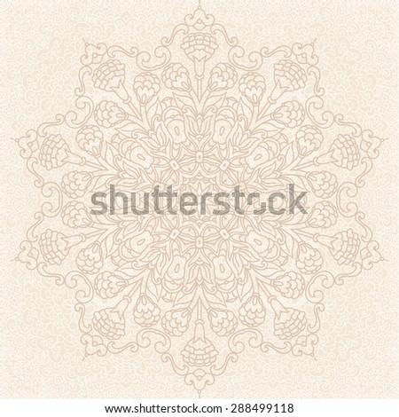 Round Ornament Patterns. Mandala - stock vector