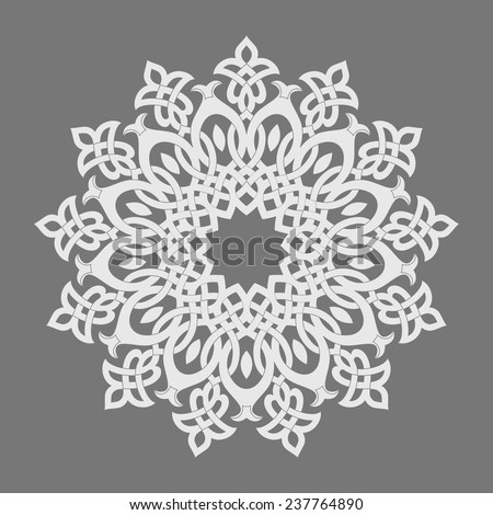 Round pattern. Persian, Arabic, Islamic, Turkish symbols and design elements. - stock vector