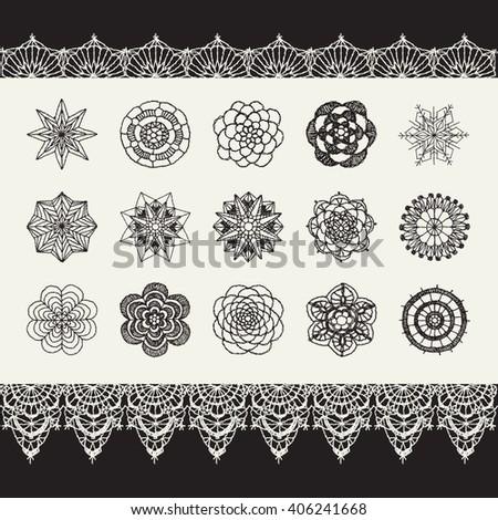 Crochet Patterns Vector : Crochet Flower Stock Images, Royalty-Free Images & Vectors ...