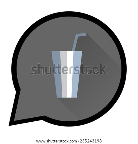 Round pointer with image of milk shake