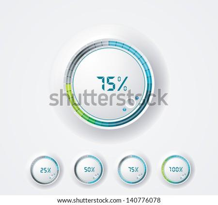 Round progress bar. Vector preloader - stock vector