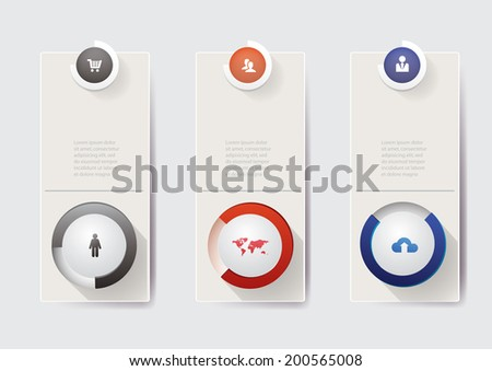 Round progress bars. Vector illustration eps 10 - stock vector