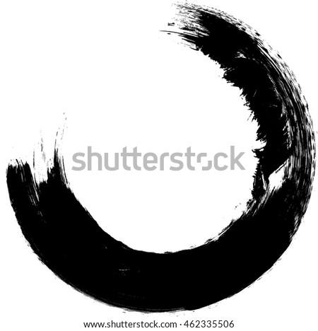 Round Shape Grunge Black White Frame Distressed Stock Vector ...