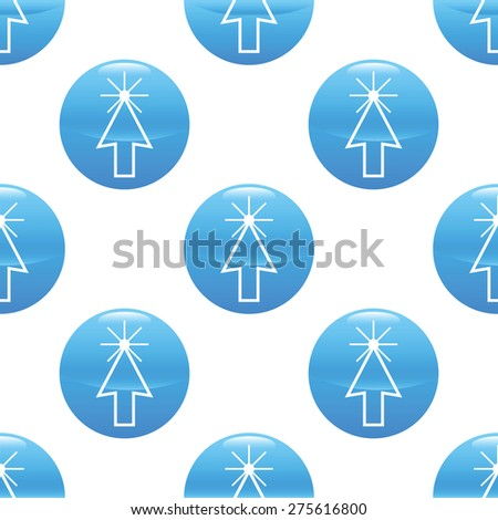 Round sign with image of clicking cursor repeated on white background - stock vector