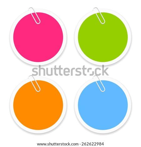 Round sticker - stock vector