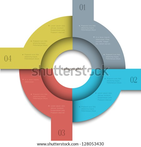 Round trendy design template for infographics and website templates or design graphic for business. Vector EPS10 - stock vector