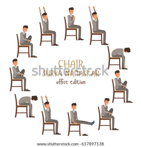 chair yoga positions stock images, royalty-free images & vectors