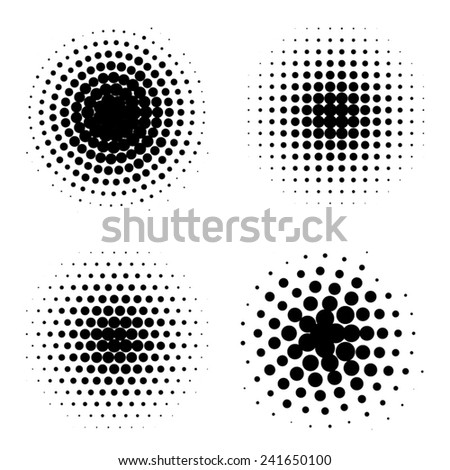 round vintage dots set - stock vector