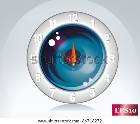 round wall clock - stock vector