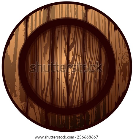 Round shield vector