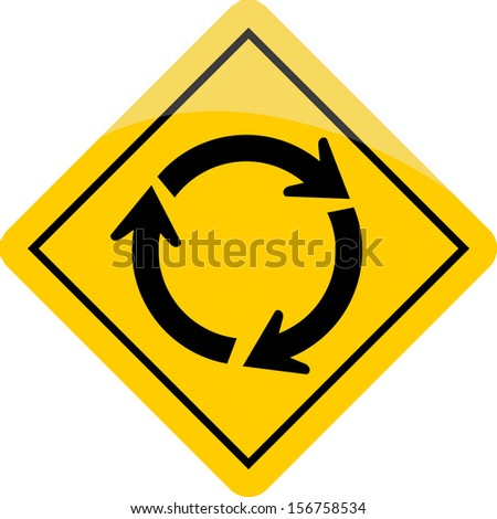 Roundabout sign  - stock vector