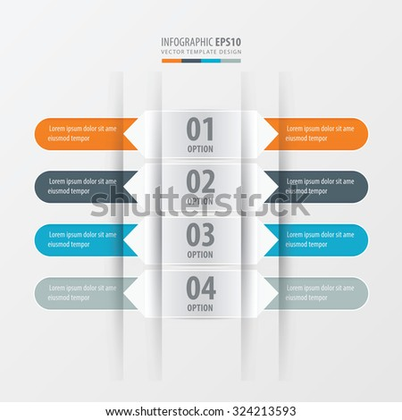 Rounded  banner set  Orange , blue, gray color