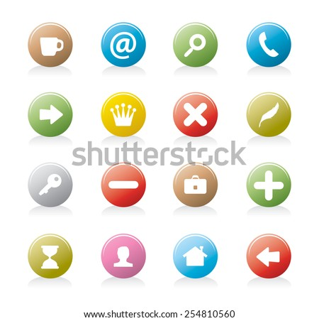 rounded buttons - stock vector