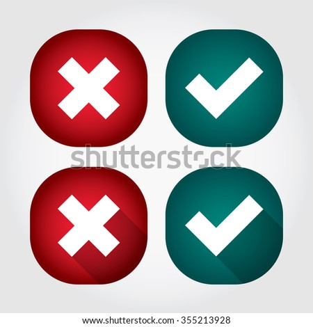 Rounded Check Mark - Red - Green