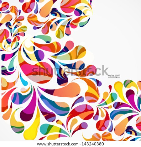 Rounded colorful arc drops. Decorative abstract background. - stock vector