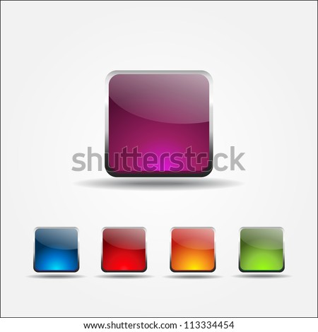 Rounded Rectangle Icon - stock vector