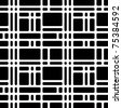 Rounded squares black and white seamless pattern. Geometric vector wallpaper or website background. - stock photo