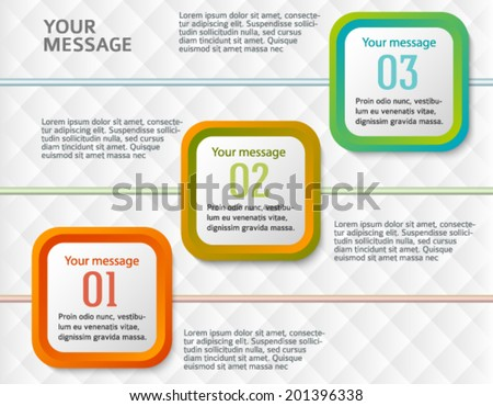 Rounded squares on white background. Modern design elements business magazine template. Vector illustration EPS 10 for info-graphics, charts and graphs,  page layout  - stock vector
