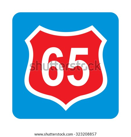 Route 65 Road Sign.