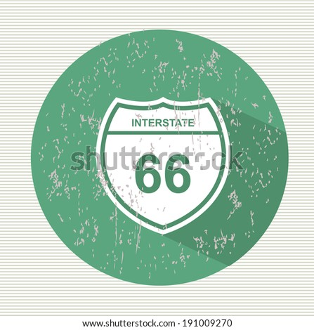 Route 66 sign, vector - stock vector