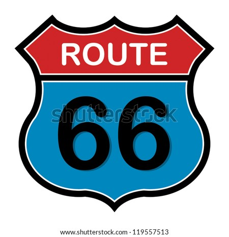Route 66 sign, vector illustration