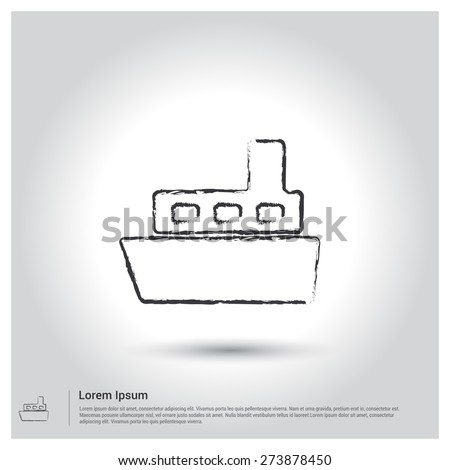 Router exercise Icon, Sketch Doodle pictogram icon on gray background. Vector illustration - stock vector