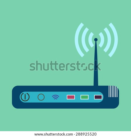 Router, modem hardware, connection icon vector image - stock vector