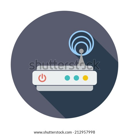 Router. Single flat color icon. Vector illustration. - stock vector