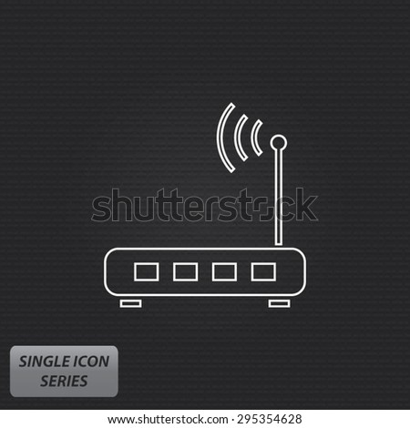 Router - Single Icon Series - stock vector