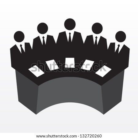 Row of business executives. Team of professionals, leadership. Vector illustration concept - stock vector