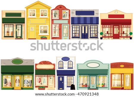 Small Town Main Street Stock Vectors, Images & Vector Art ...