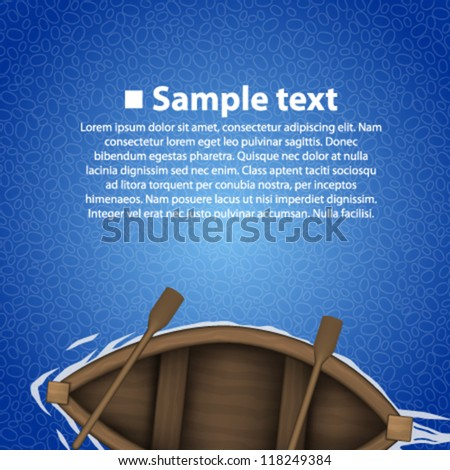 rowing boat background - stock vector