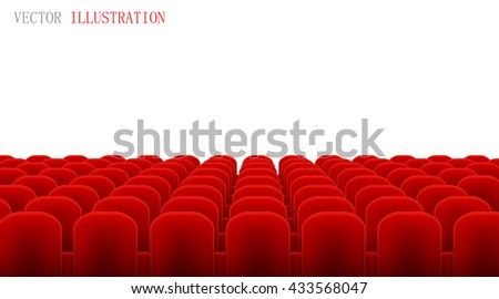 Rows of Cinema or Theater Red. Vector.