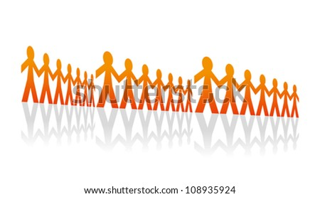 Rows of men - stock vector