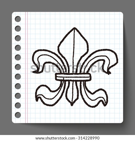 royal crest doodle - stock vector
