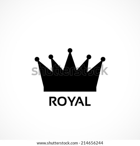 royal crown, flat icon isolated on white background - stock vector