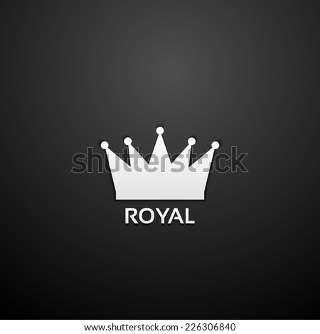 royal crown icon - stock vector