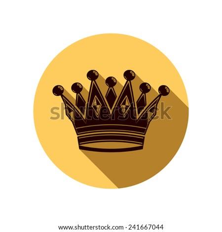 Royal design element, regal icon. Stylish majestic 3d crown, luxury coronet illustration. Imperial symbol. - stock vector