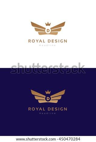 Royal design logo template. - stock vector