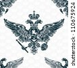 royal eagle seamless pattern - stock vector