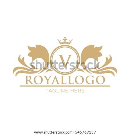 royal logo design template stock vector 545769139 shutterstock. Black Bedroom Furniture Sets. Home Design Ideas